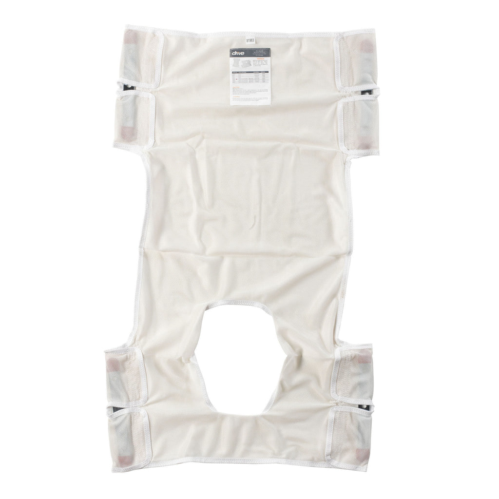 Patient Lift Sling with Commode Cutout - EZMEDx Medical Supply