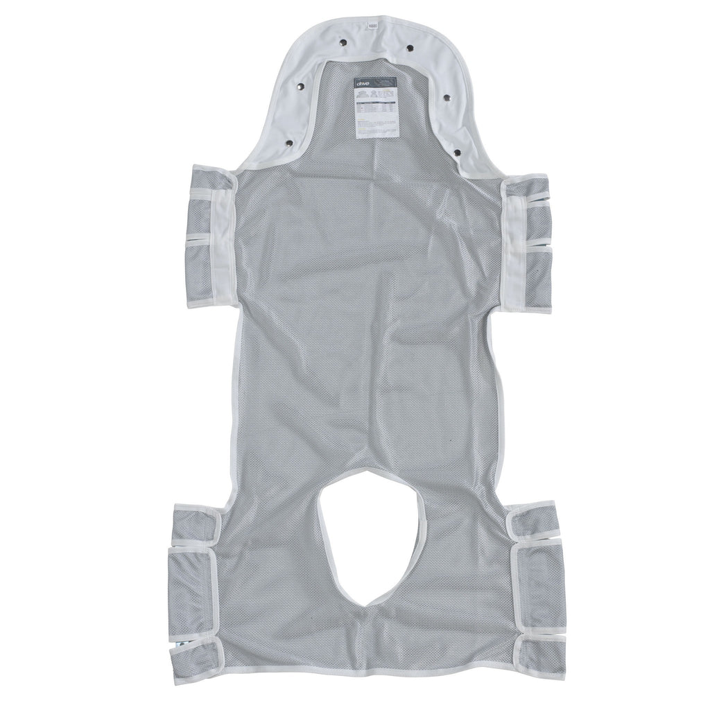 "Patient Lift Sling with Head Support and Commode Opening, 53"" x 30"" - EZMEDx Medical Supply"