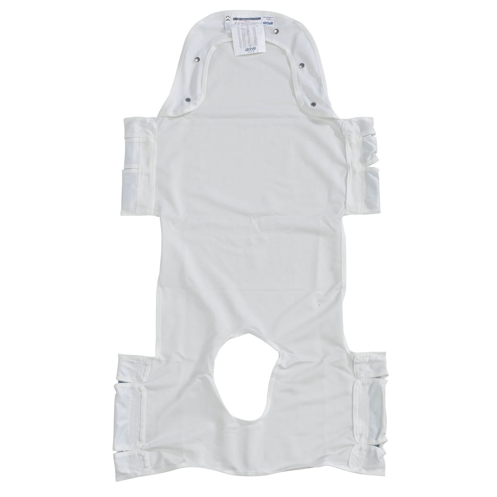 Patient Lift Sling with Head Support and Insert Pocket with Commode Opening - EZMEDx Medical Supply