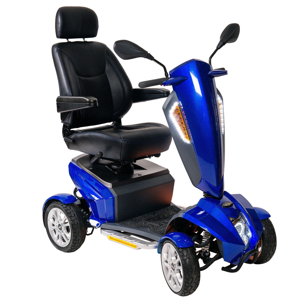 "Odyssey GT Executive Power Mobility Scooter, 18"" Captain's Seat - EZMEDx Medical Supply"