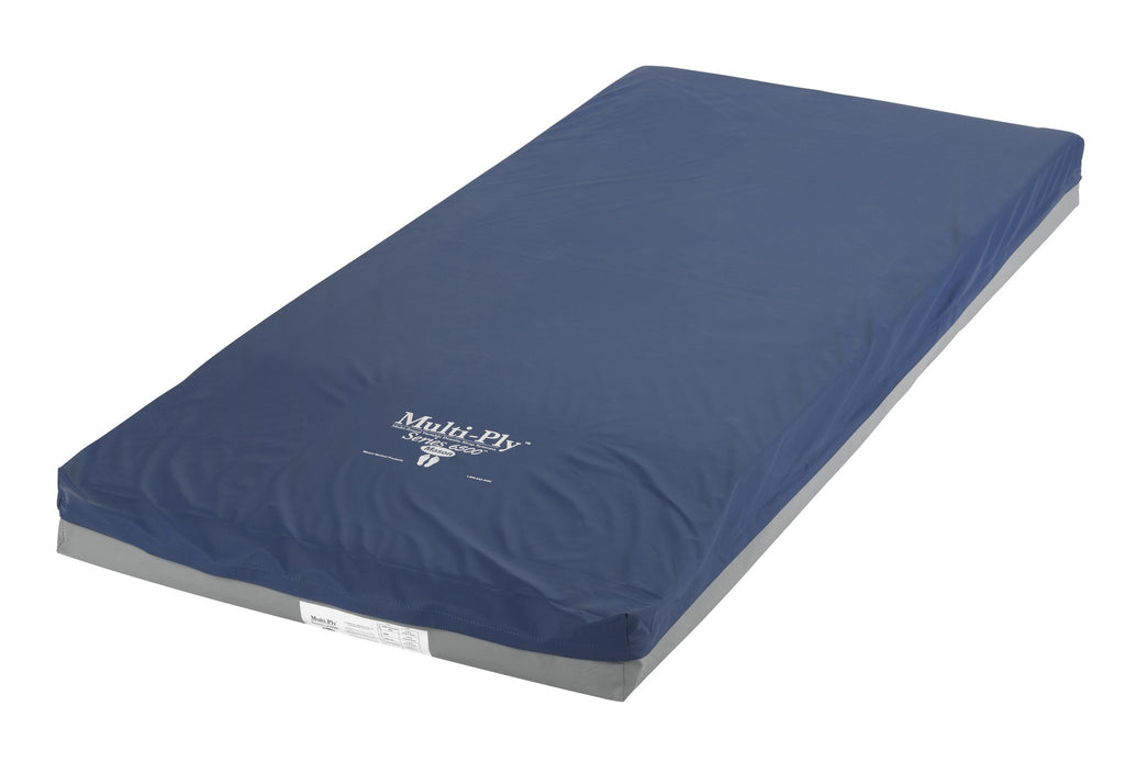 "Multi-Ply Series Foam 3 Layer Pressure Redistribution Mattress, Elevated Perimeter, 76"" - EZMEDx Medical Supply"