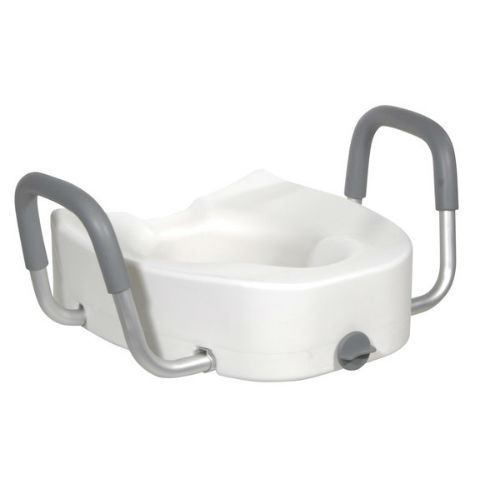 Raised Toilet Seat with Padded Armrests - EZMEDx Medical Supply