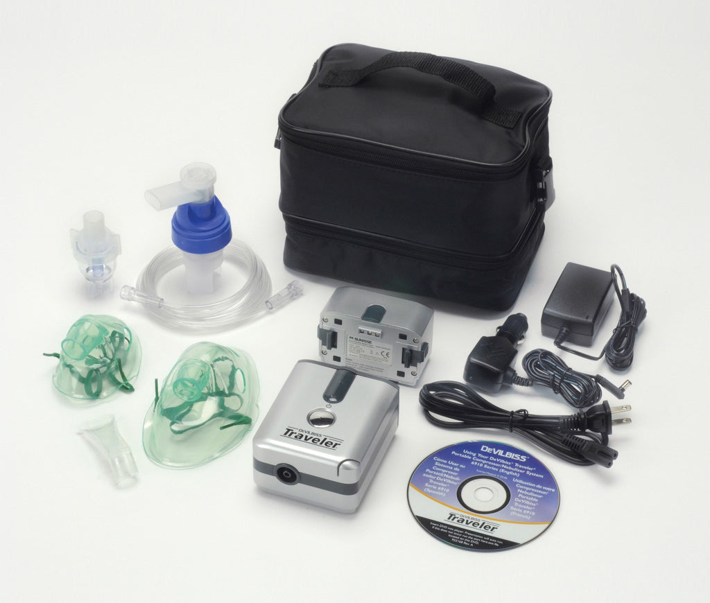 Traveler Portable Compressor Nebulizer System - EZMEDx Medical Supply  - 1
