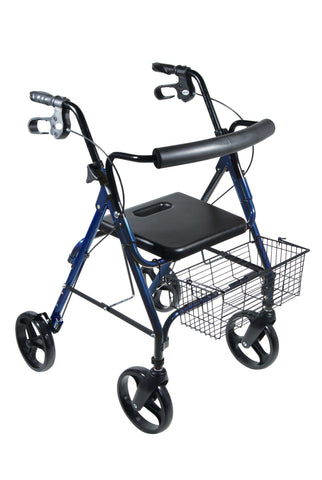 "DLite Lightweight Walker Rollator with 8"" Wheels and Loop Brakes - EZMEDx Medical Supply  - 1"