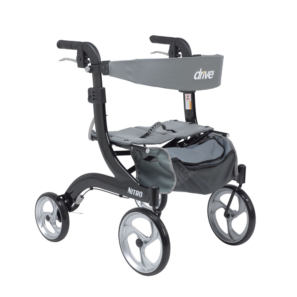 Nitro Euro Style Walker Rollator, Hemi Height - EZMEDx Medical Supply  - 1
