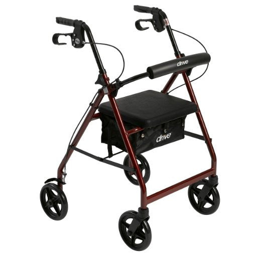 Aluminum Rollator with Fold Up and Removable Back Support and Padded Seat - EZMEDx Medical Supply  - 1
