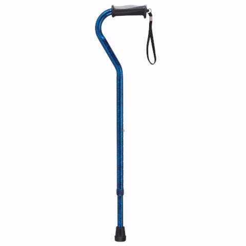 Adjustable Height Offset Handle Cane with Gel Hand Grip - EZMEDx Medical Supply  - 1