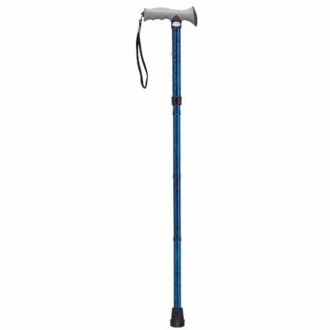 Adjustable Lightweight Folding Cane with Gel Hand Grip - EZMEDx Medical Supply  - 1