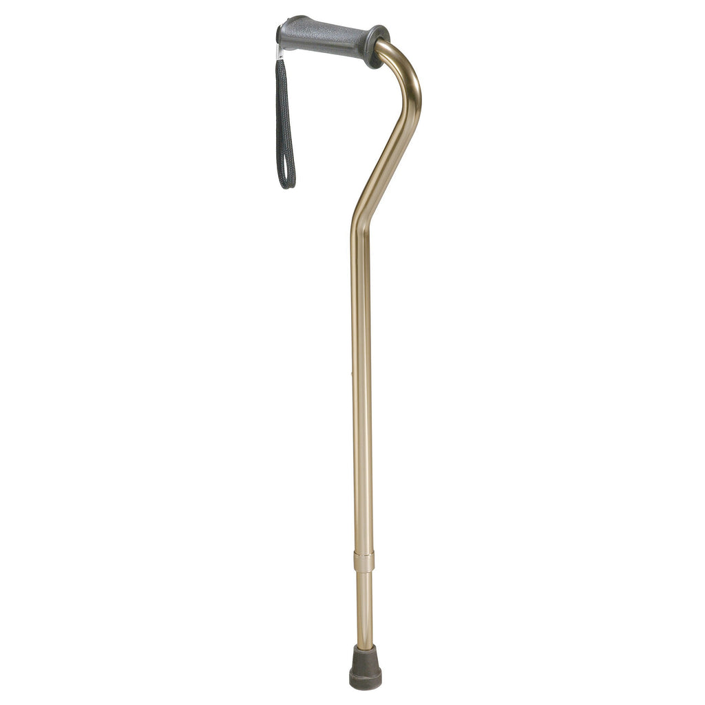 Rehab Ortho K Grip Offset Handle Cane with Wrist Strap - EZMEDx Medical Supply