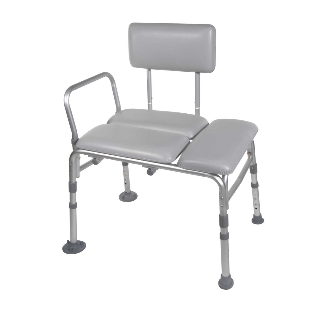 K.D. Padded Transfer Bench - Without Commode (12005KDR-1) - EZMEDx Medical Supply