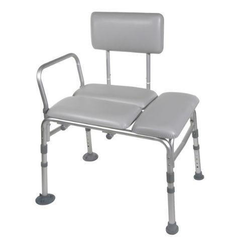 Drive Medical Padded Seat Transfer Bench, Gray - EZMEDx Medical Supply