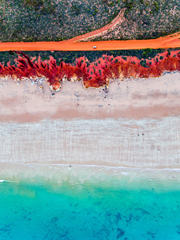 James Price Point, Broome, The Kimberley, Western Australia. Red Pindan, Blue Ocean.