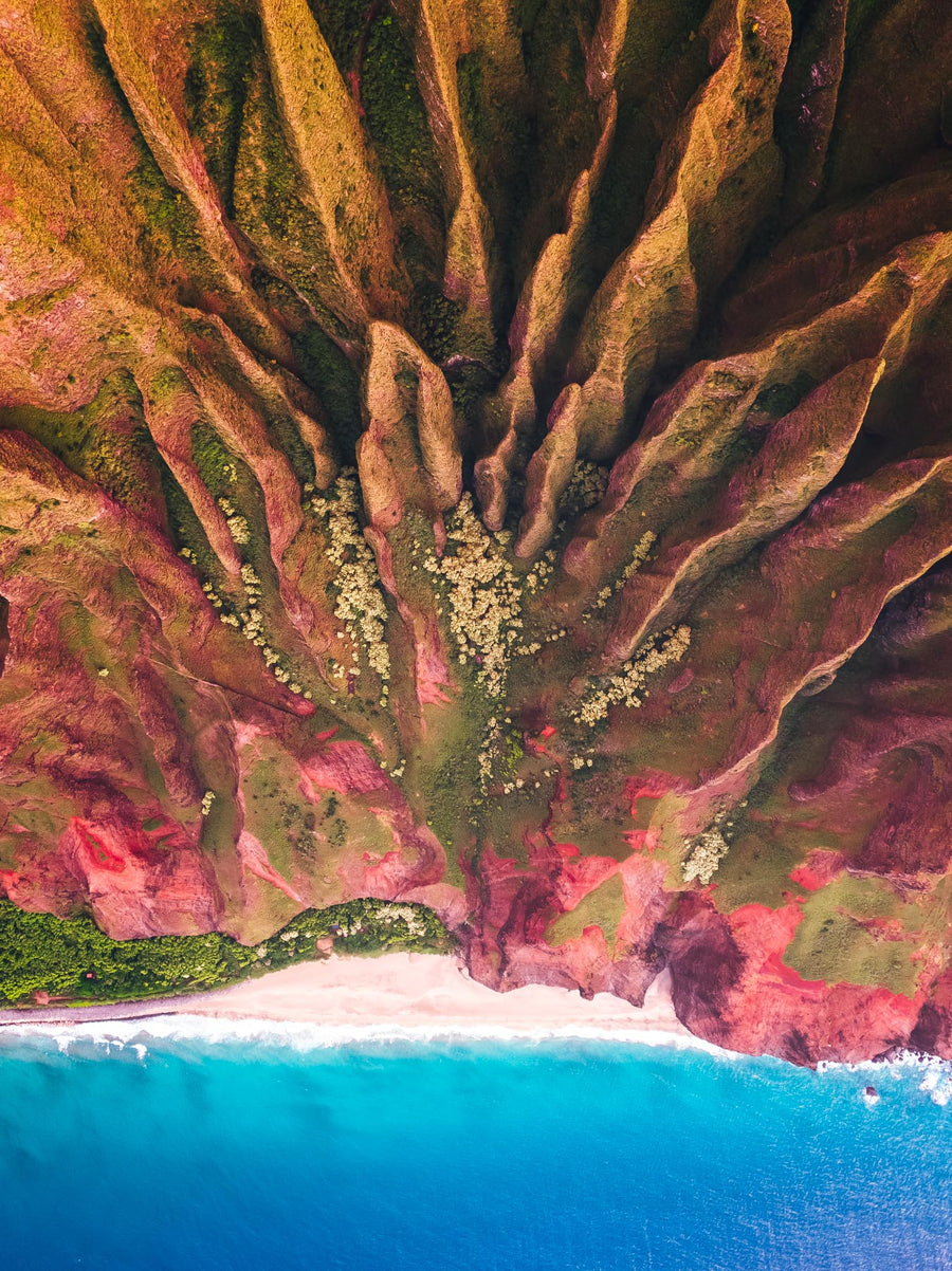 salty wings hawaii kauai drone na pali helicopter