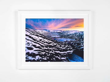 In Stock - SW0538 - Norway - 100cm x 75cm - Fine Art Paper - Classic Frame / White / Non-Reflective Glass / Landscape (Perth Only)