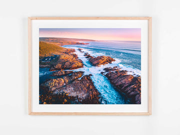 In Stock - SW0558- Canal Rocks - 60cm x 45cm / Fine Art Paper - Deep Set Frame / Raw Oak / Landscape