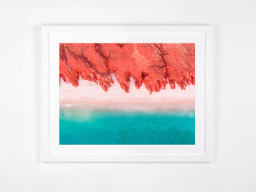 In Stock - SW0697 - Cape Leveque - 60cm x 45cm / Fine Art Paper - Classic Frame / White / Portrait or Landscape