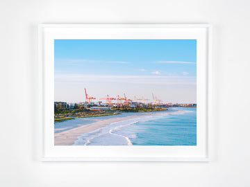 In Stock - SW0825 - Leighton Beach - 80cm x 60cm / Fine Art Paper - Deep Set Frame / White / Landscape