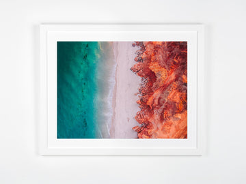 In Stock - SW0973 - Cape Leveque -  120cm x 90cm / Fine Art Paper - Classic Frame / White / Portrait or Landscape