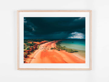 In Stock - SW1550 - Broome - 100cm x 75cm / Fine Art Paper - Deep Set Frame / Raw Oak / Landscape