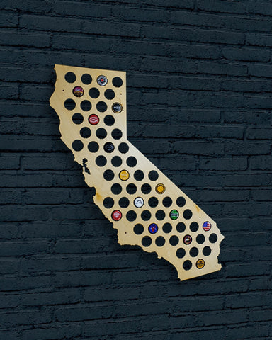 California Beer Cap Map