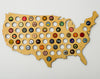 United States of America Beer Cap Map