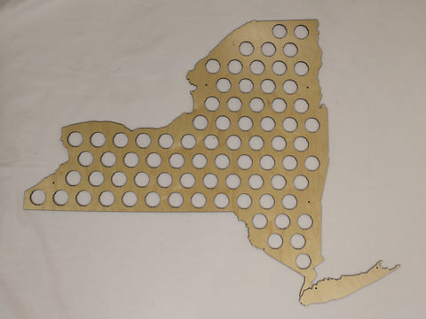 New York State Beer Cap Map