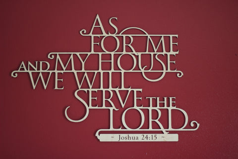 As For Me And My House Scripture Wall Art, Customized