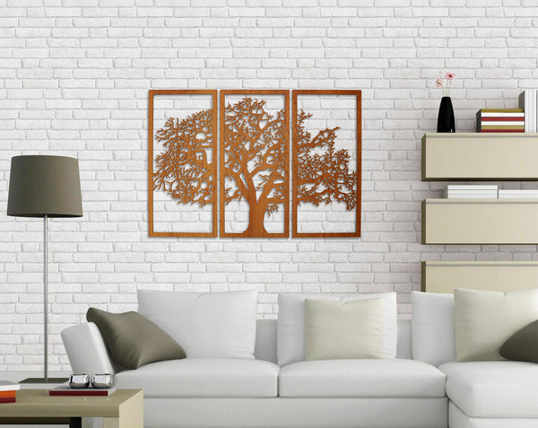 Tree of Life Wall Art - Cherry Gloss Finish