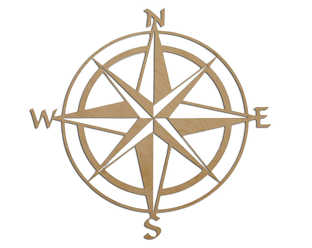 Modern Nsew Compass Wall Art Design By Skyline Workshop