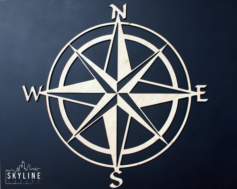 Modern Compass Rose Wall Art