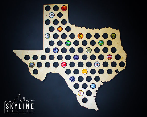 Texas State Beer Cap Map