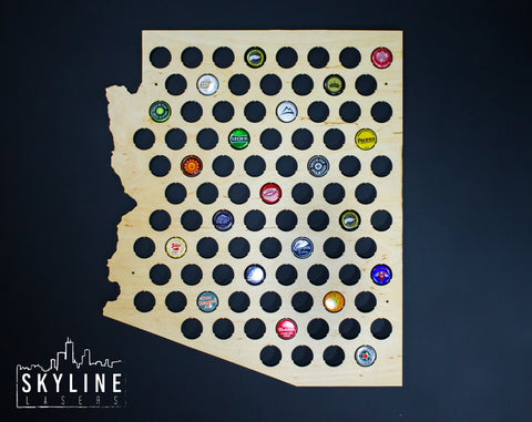 Arizona State Beer Cap Map