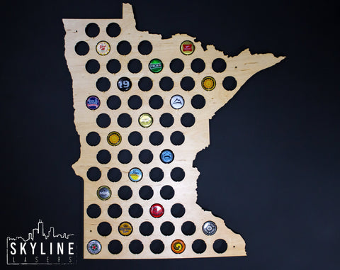 Minnesota State Beer Cap Map