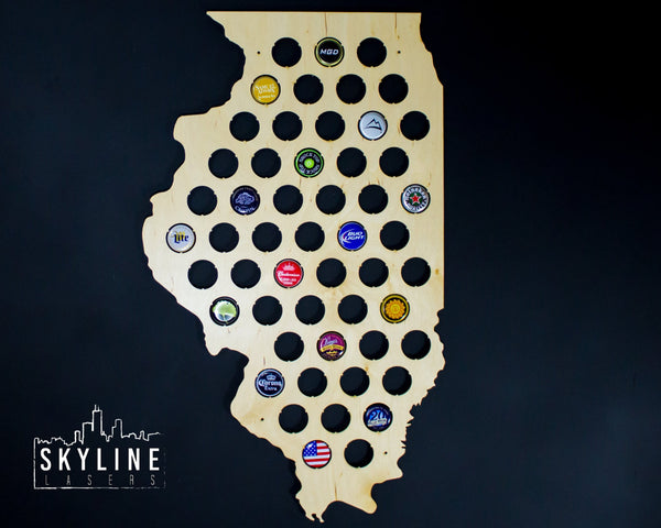 Illinois State Beer Cap Map