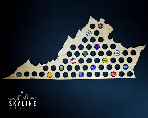 Virginia State Beer Cap Map