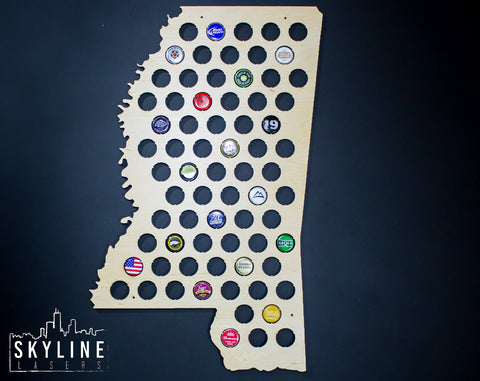 Mississippi State Beer Cap Map