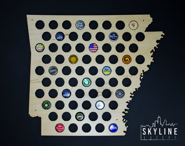 Arkansas State Beer Cap Map