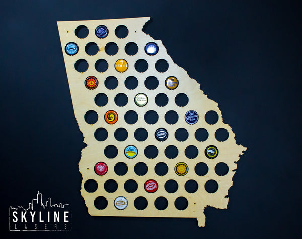 Georgia State Beer Cap Map