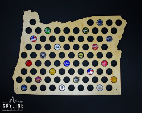 Oregon State Beer Cap Map