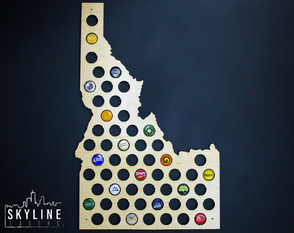 Idaho State Beer Cap Map