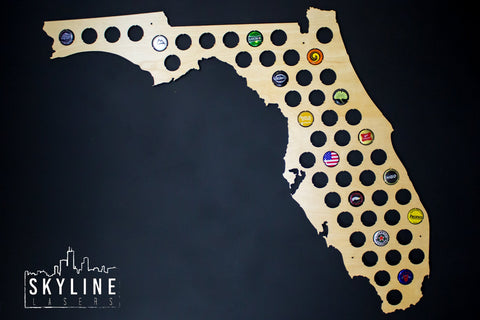 Florida State Beer Cap Map