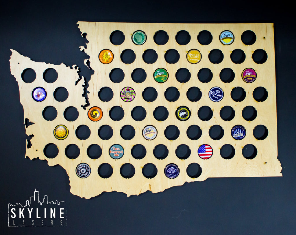 Washington State Beer Cap Map