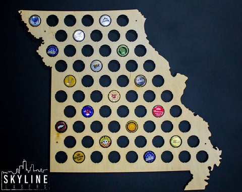 Missouri State Beer Cap Map