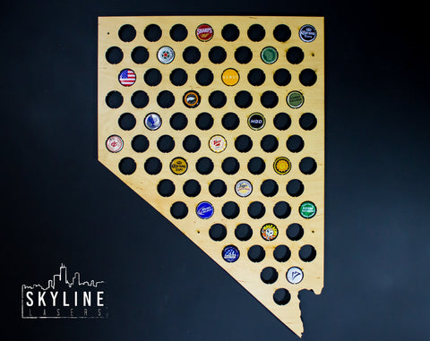 Nevada State Beer Cap Map