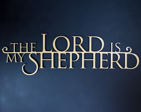 The Lord is My Shepherd Scripture Wall Art