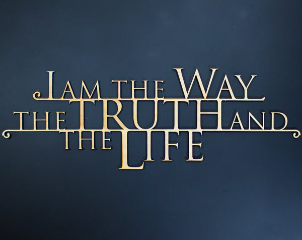 I Am the Way Scripture Wall Art