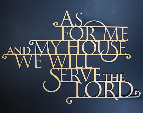 As For Me And My House Scripture Wall Art