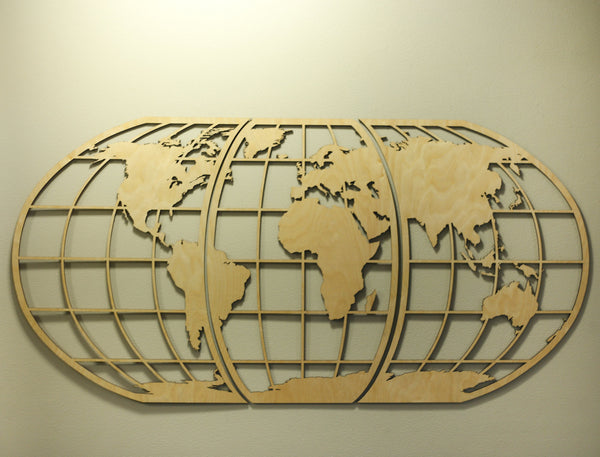 World Globe Map Wall Art
