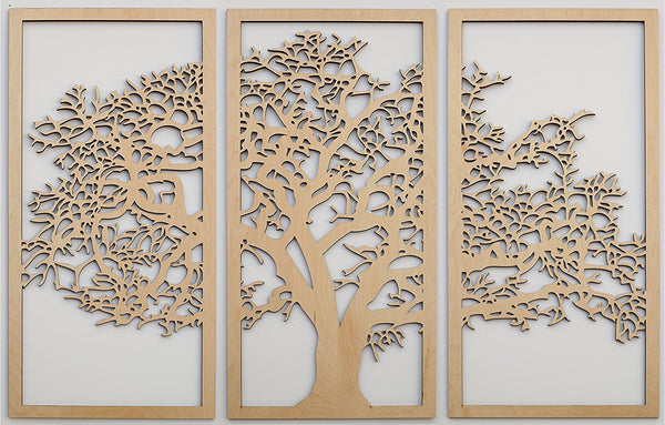 Tree Of Life 3d 3 Panel Wall Art Design By Skyline