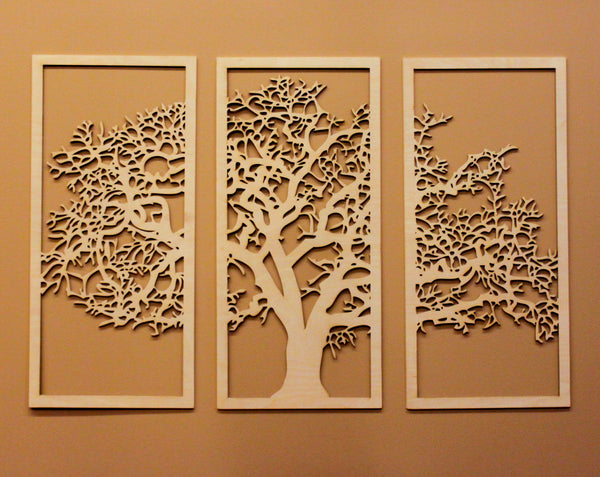 tree of life 3d 3 panel wall art design by skyline. Black Bedroom Furniture Sets. Home Design Ideas